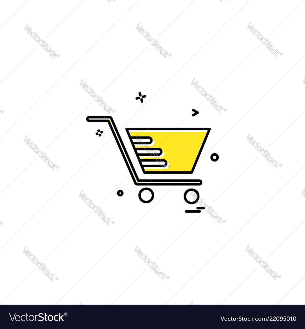 Cart shopping trolley buy icon