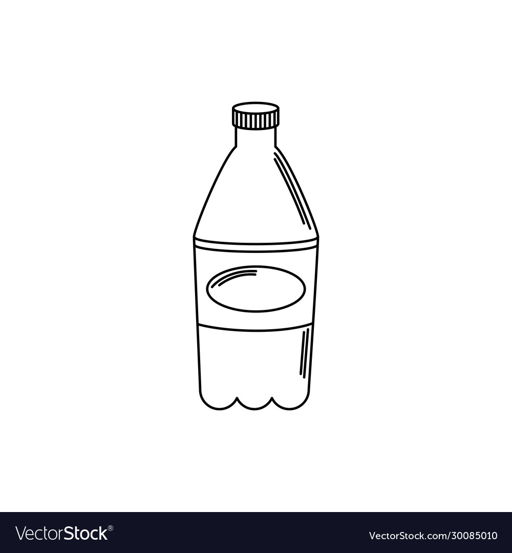 Drinks plastic bottle soda refreshment line style