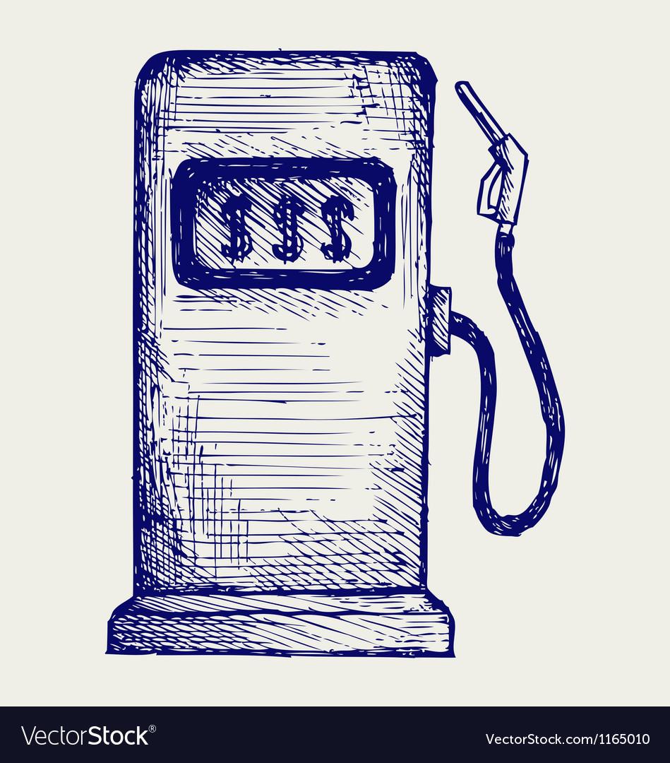 Gas station pump vector image