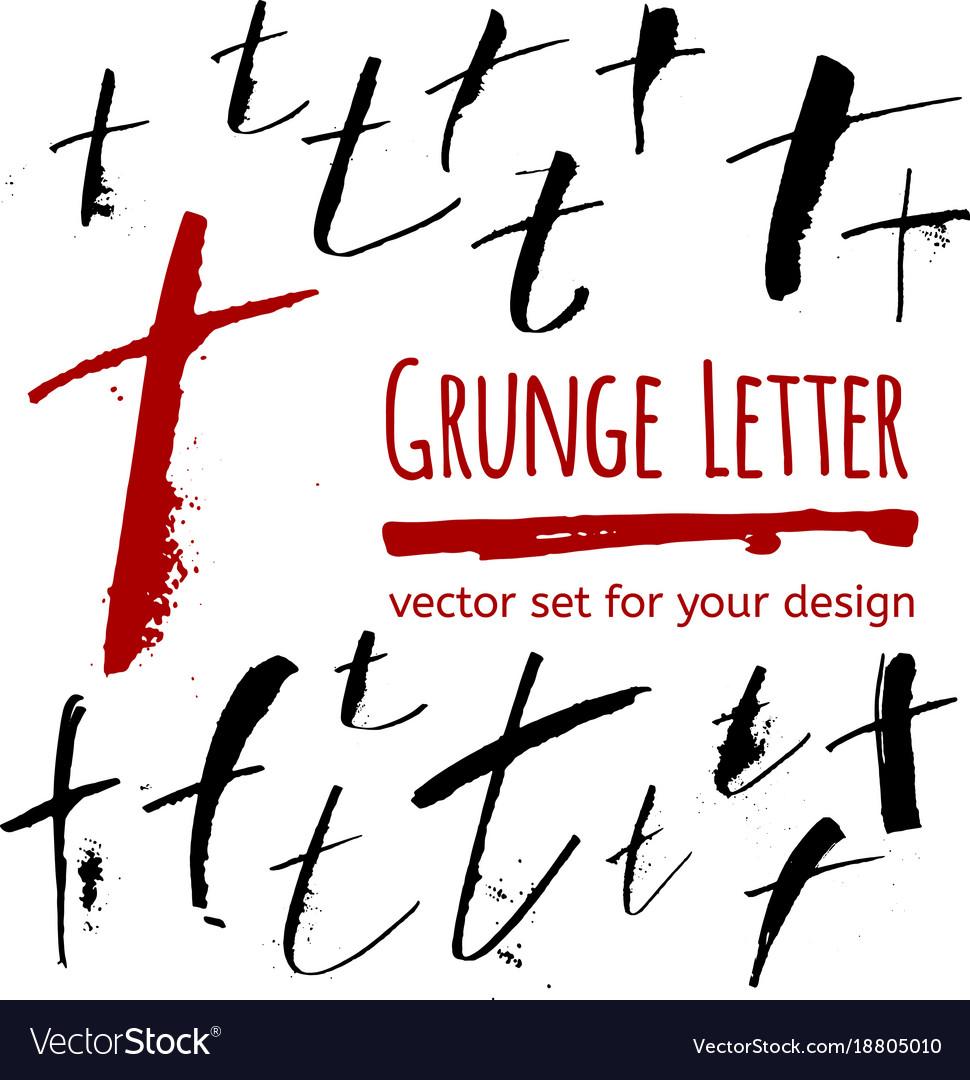 Grunge letter set for your design vector image