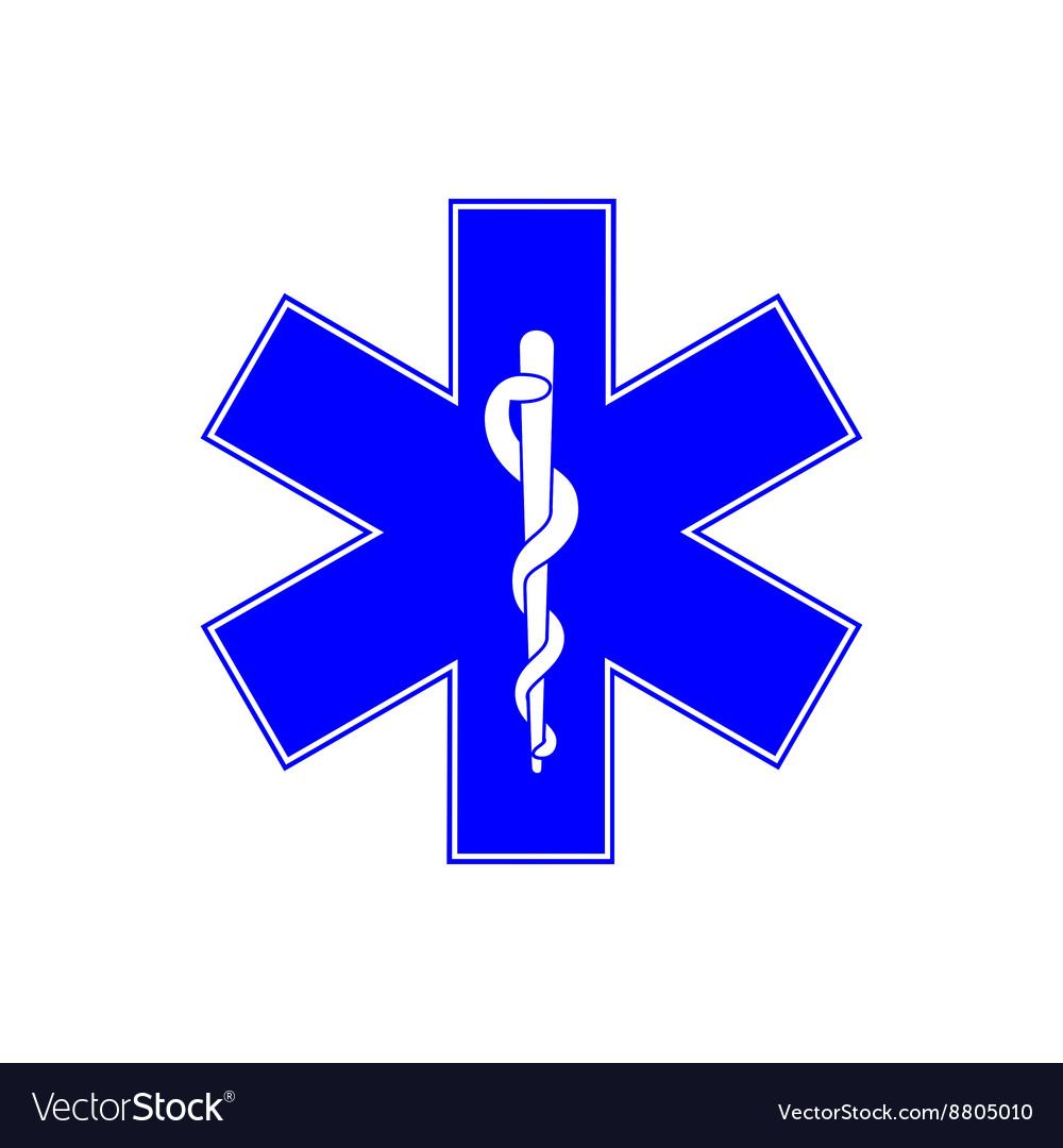 Medical Symbol Of Emergency Star Of Life Vector Image