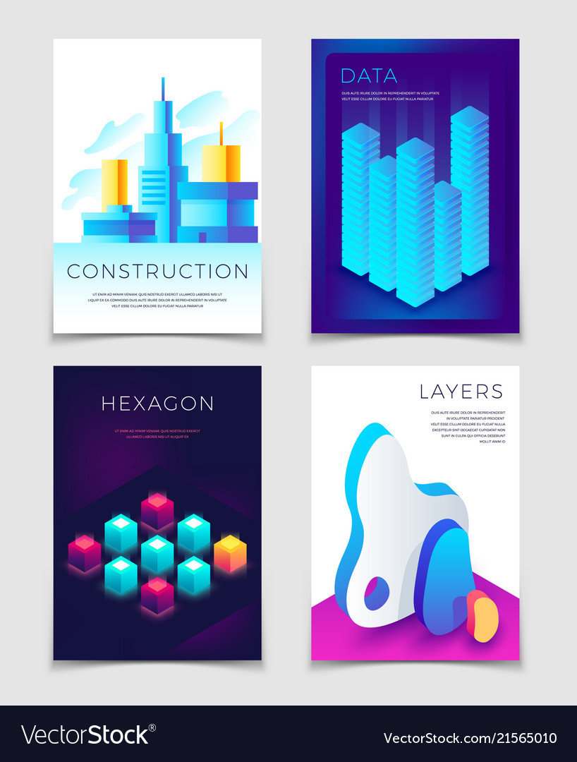 Modern abstract 3d geometric backgrounds with