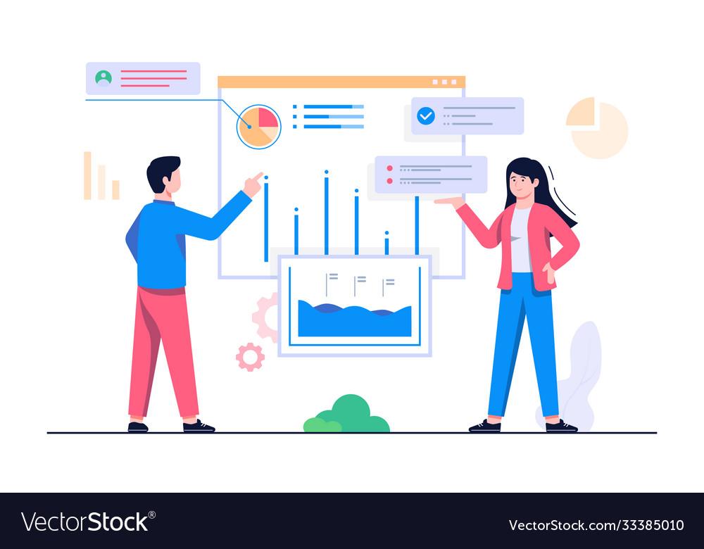 People analytics concept flat