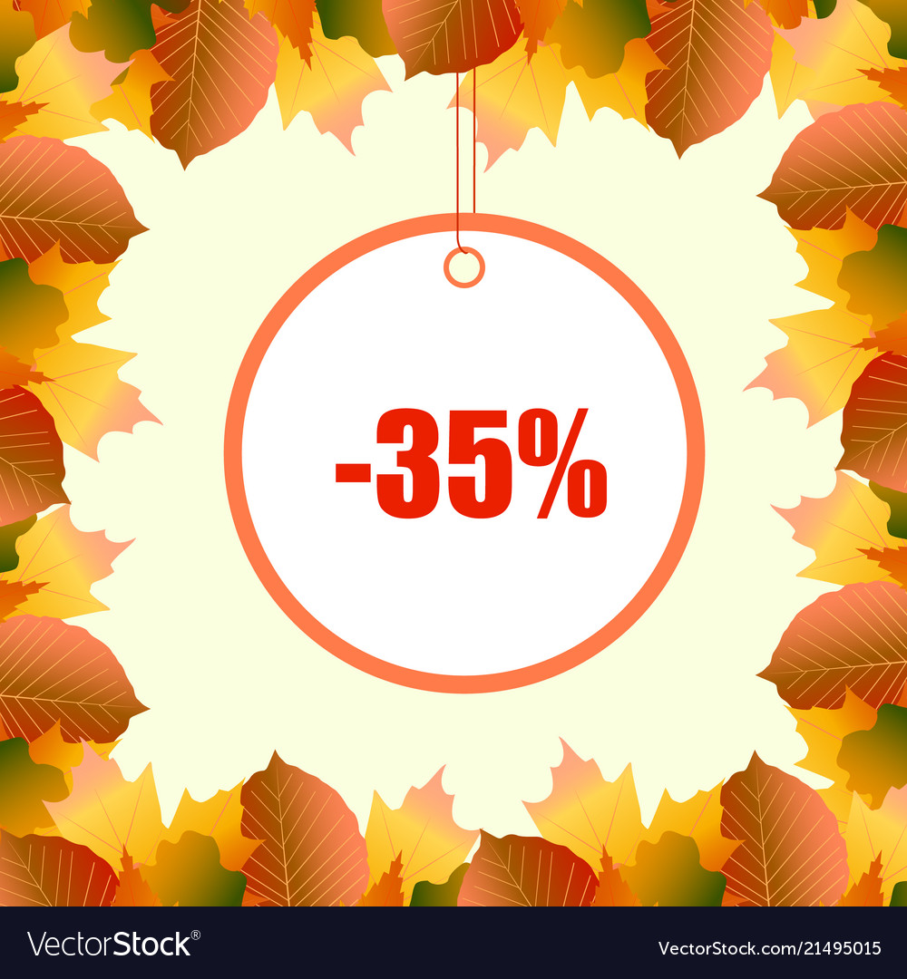 A discount frame from autumn leaves