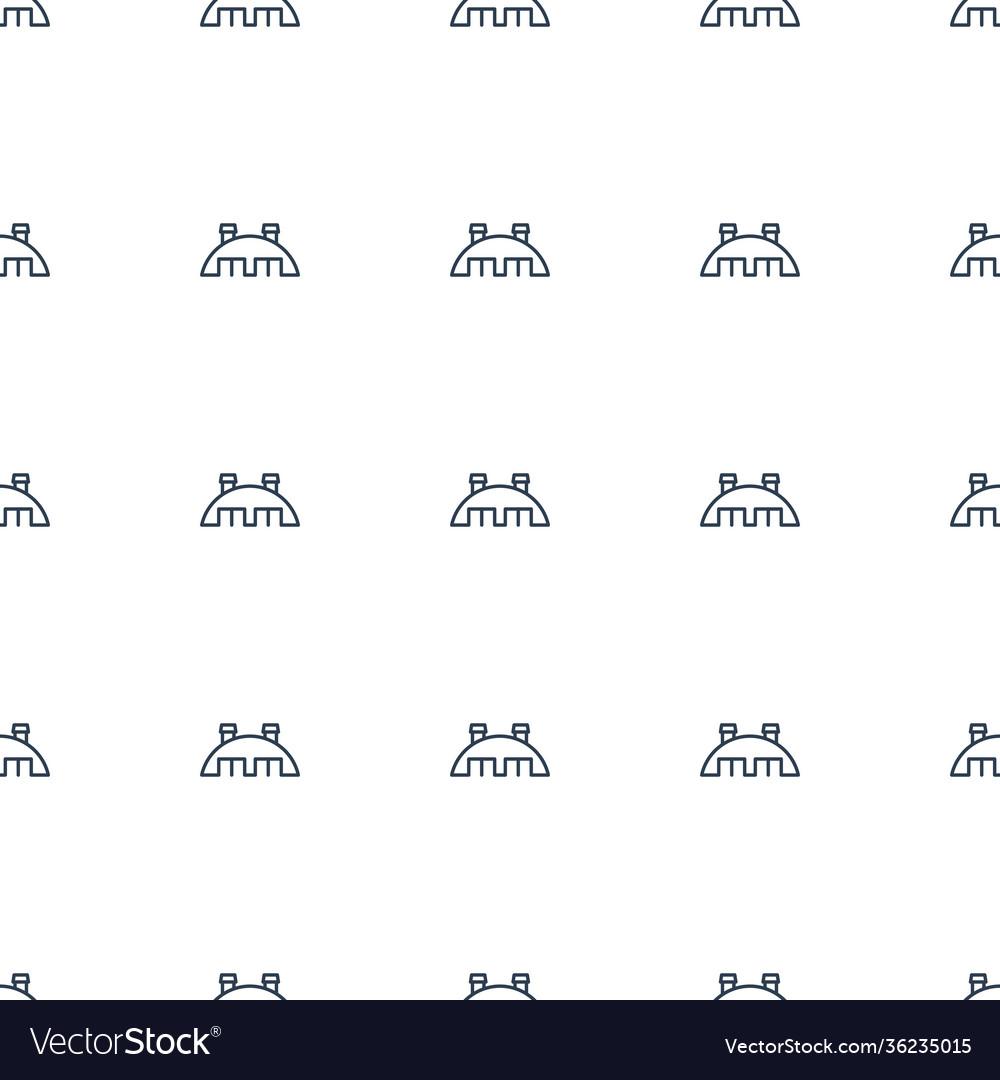 Barn icon pattern seamless white background