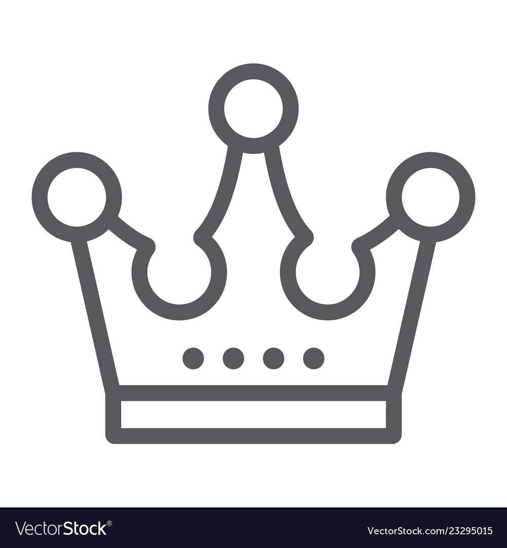 Crown Line Icon Jewellery And Accessory Corona Vector Image