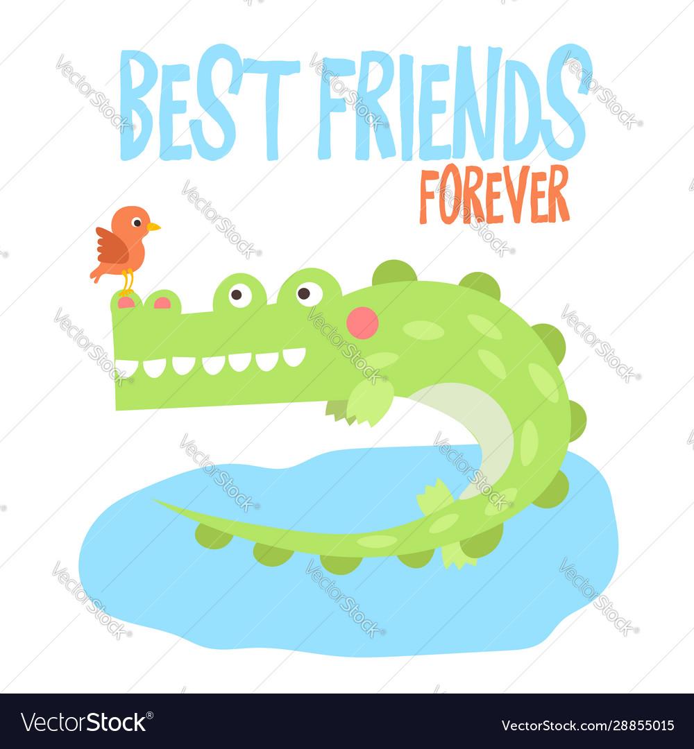 Cute crocodile on tropical