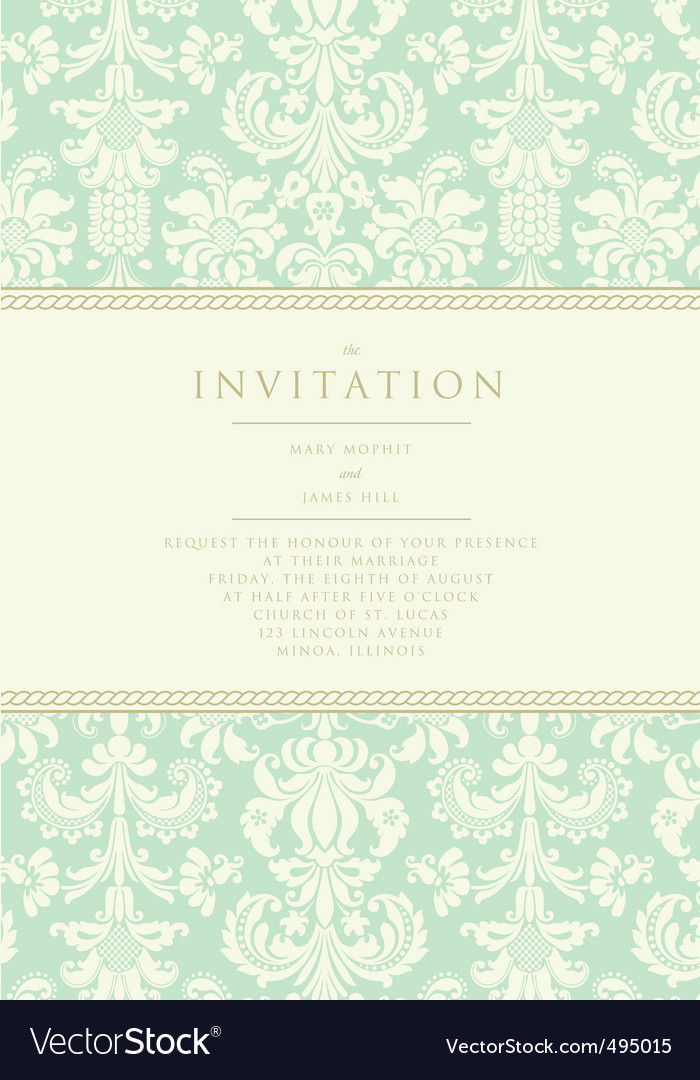 Damask invitation card
