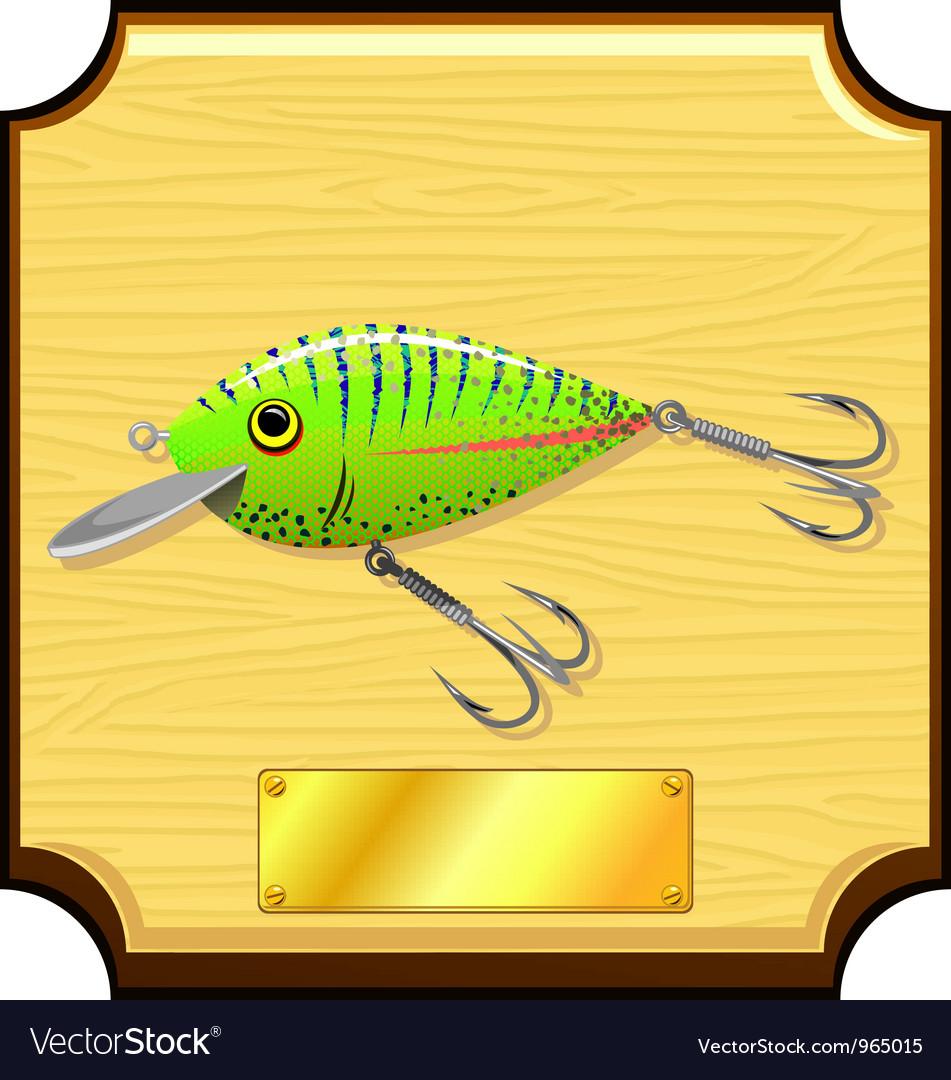 Fishing lure vector image