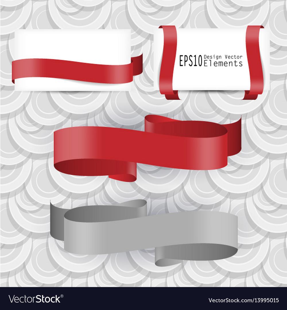 Ribbon design elements