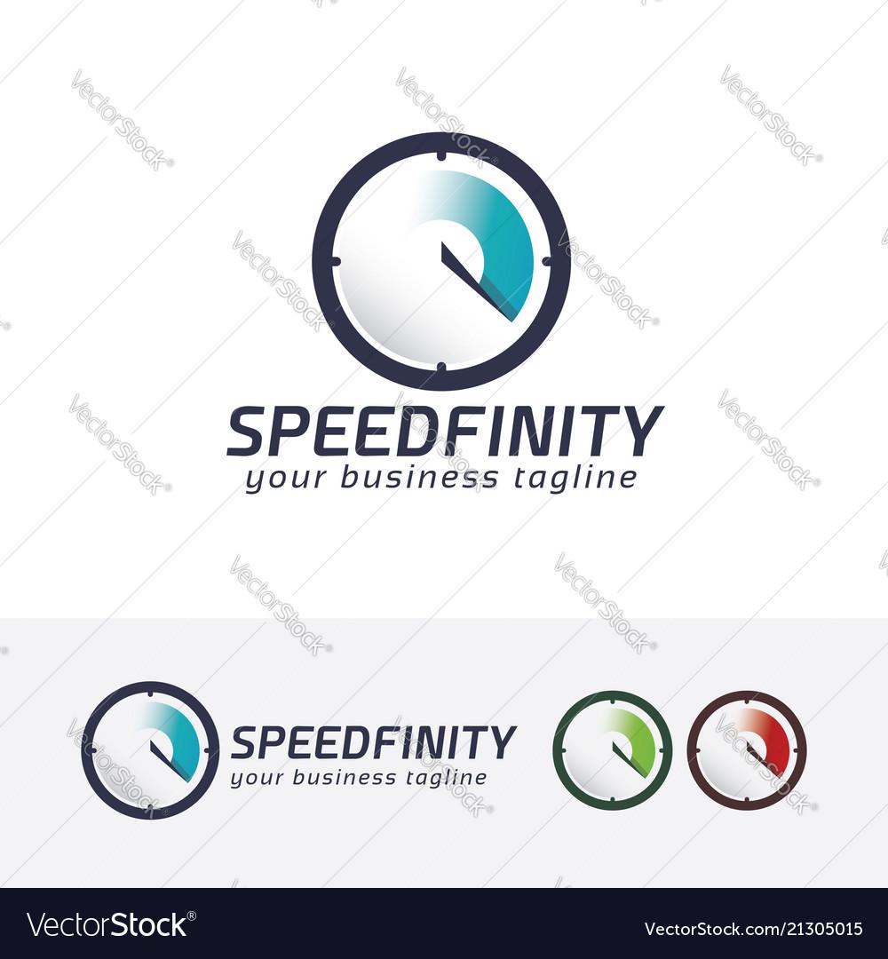 Speed infinity logo design