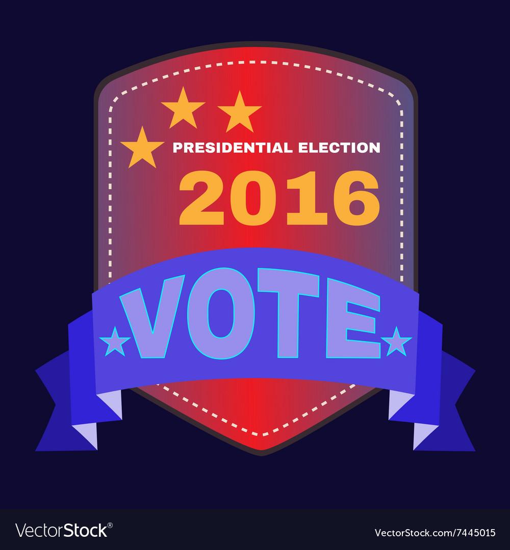 USA Presidential Election 2016 Banner vector image