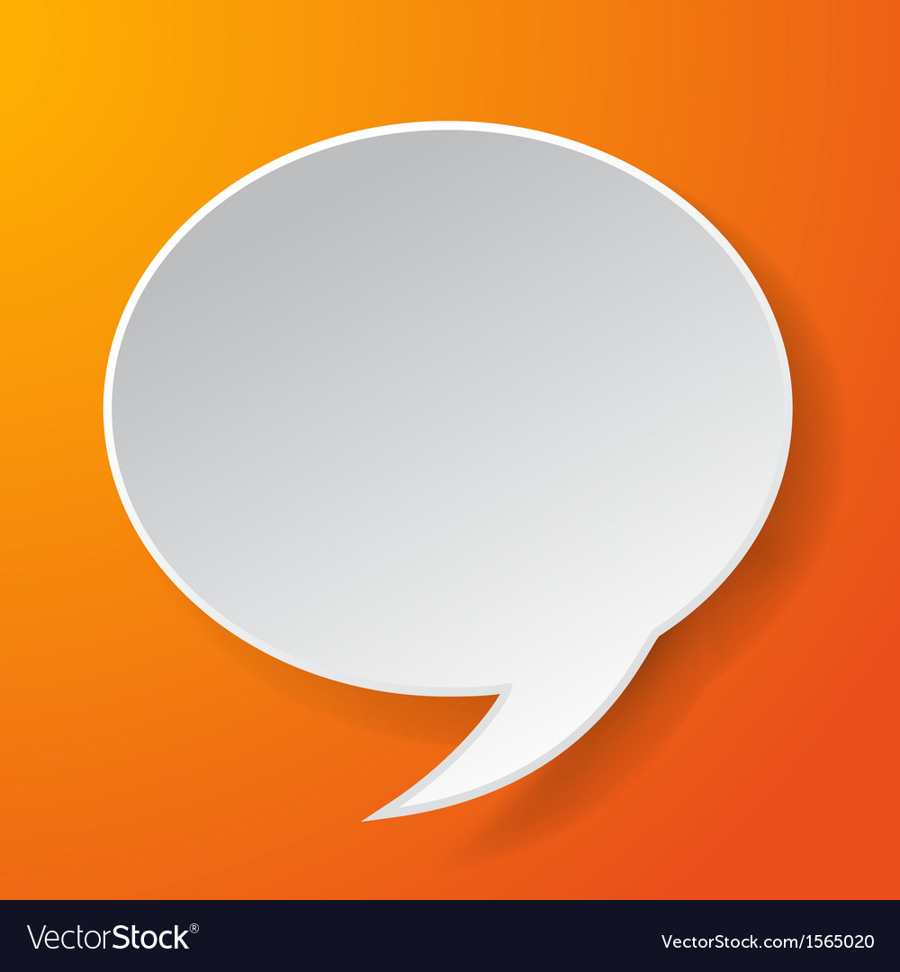 Abstract paper speech bubble