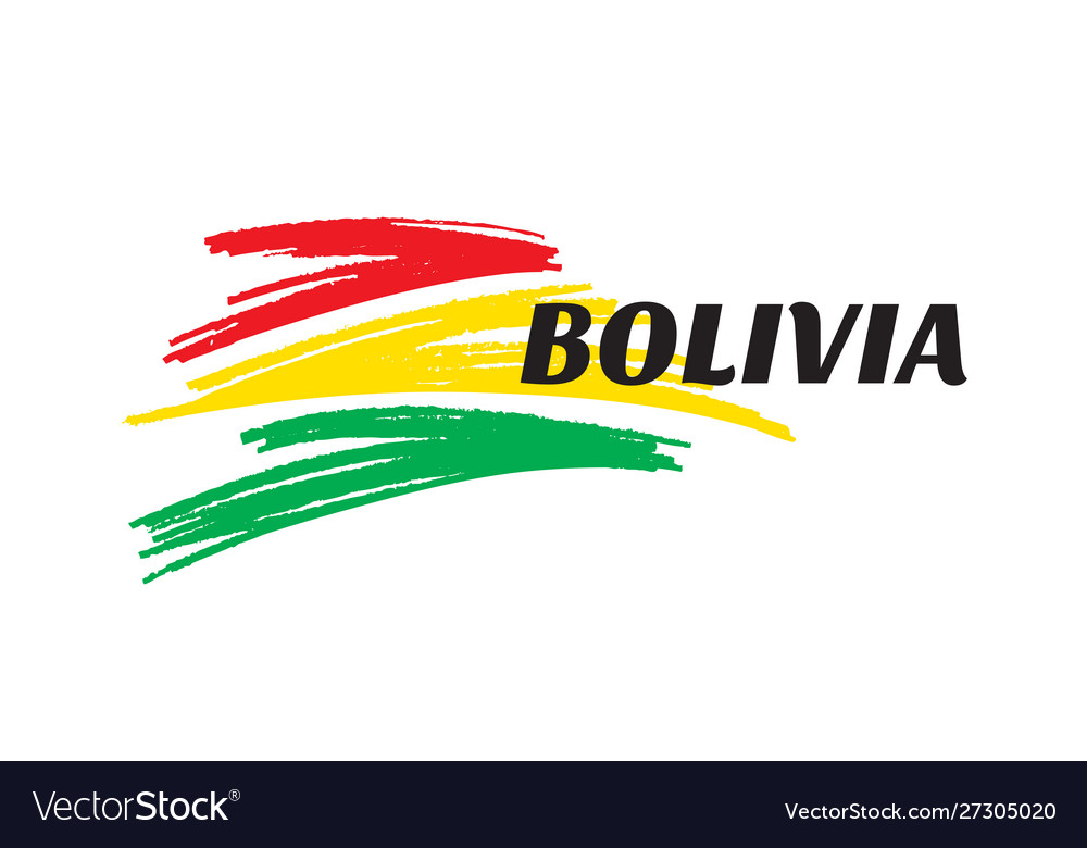 Abstract shapes in colors bolivia flag