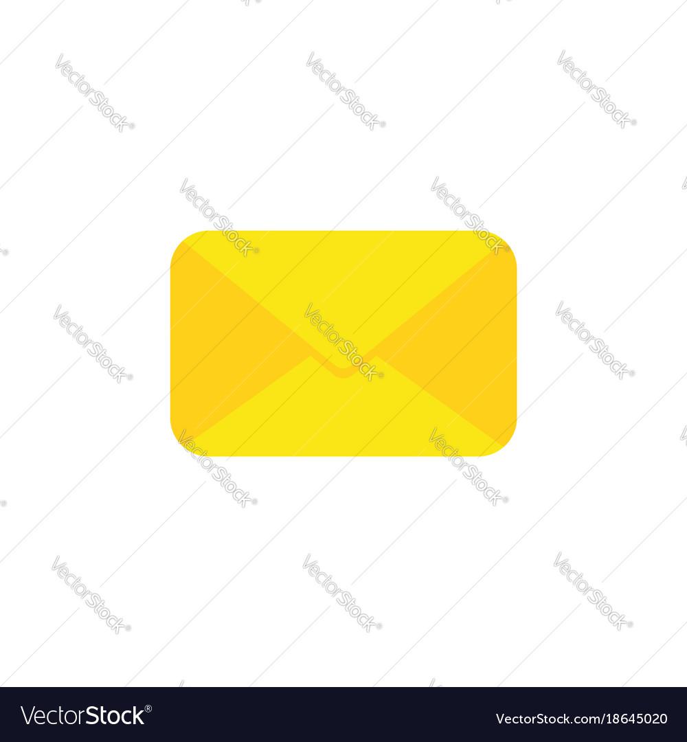 Flat design style of closed envelope