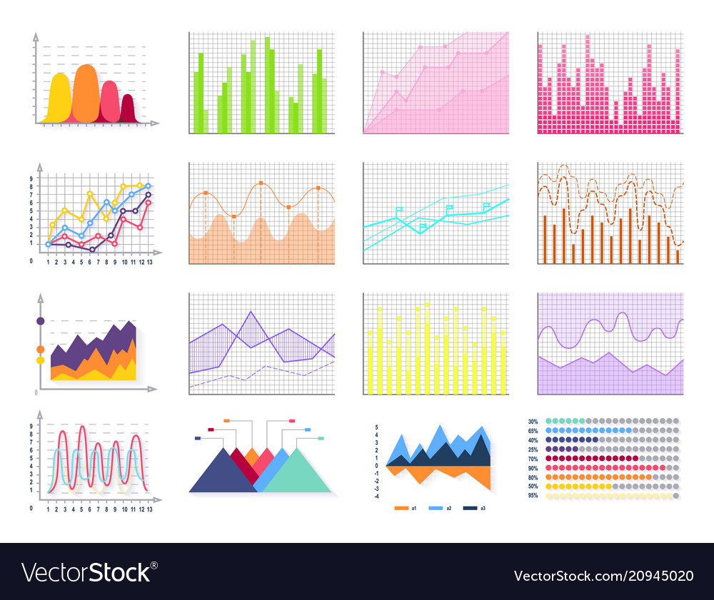 Graphics set colorful poster
