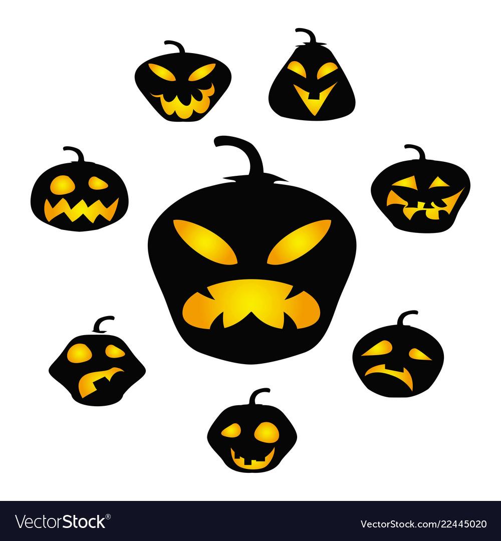 Halloween dark pumpkin face background