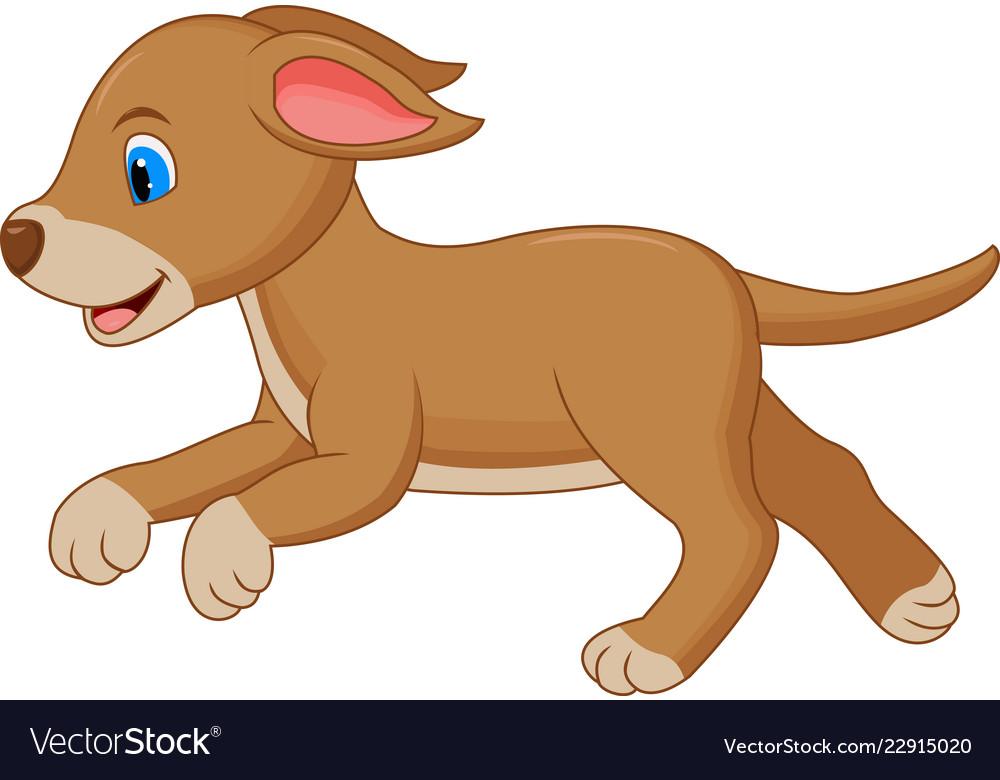 Happy Dog Cartoon Running Royalty Free Vector Image