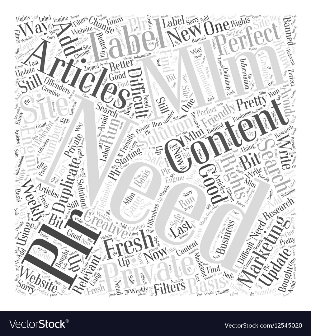 MLM and Private Label Marketing Word Cloud Concept