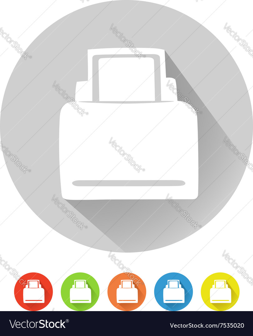 Printer symbol vector image