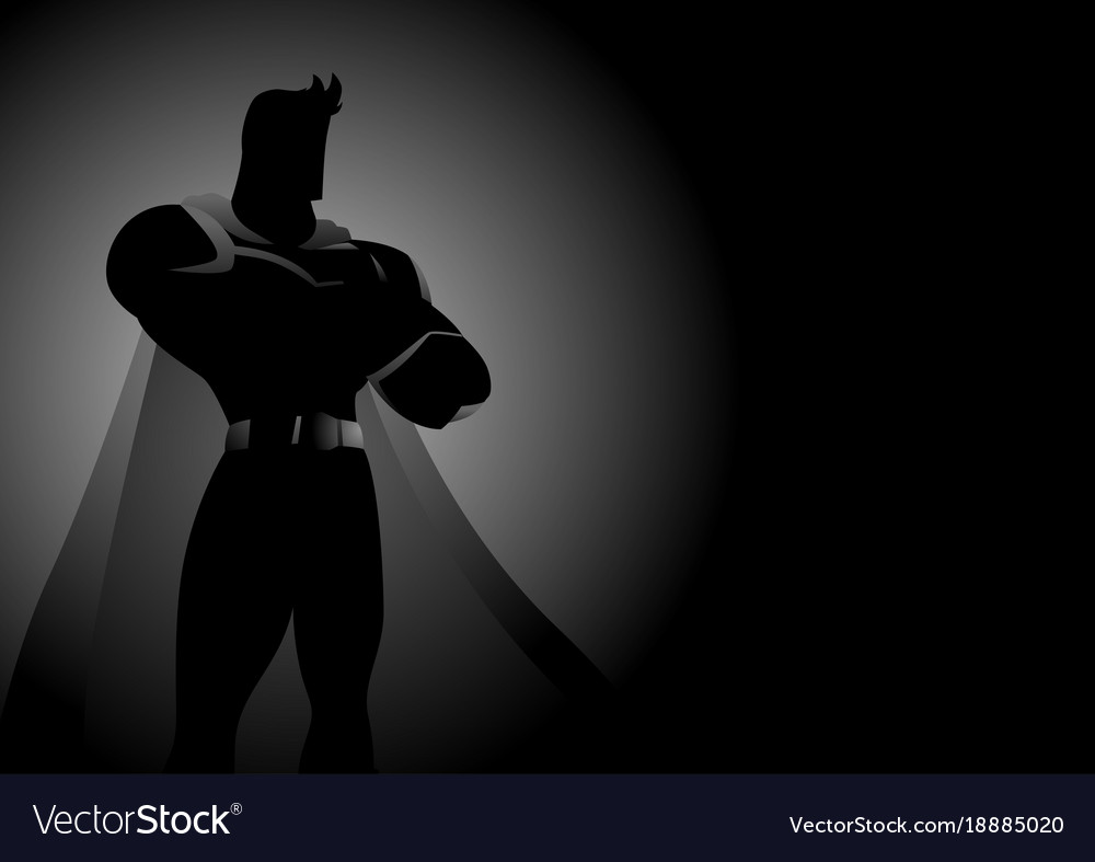 Superhero in gallant pose