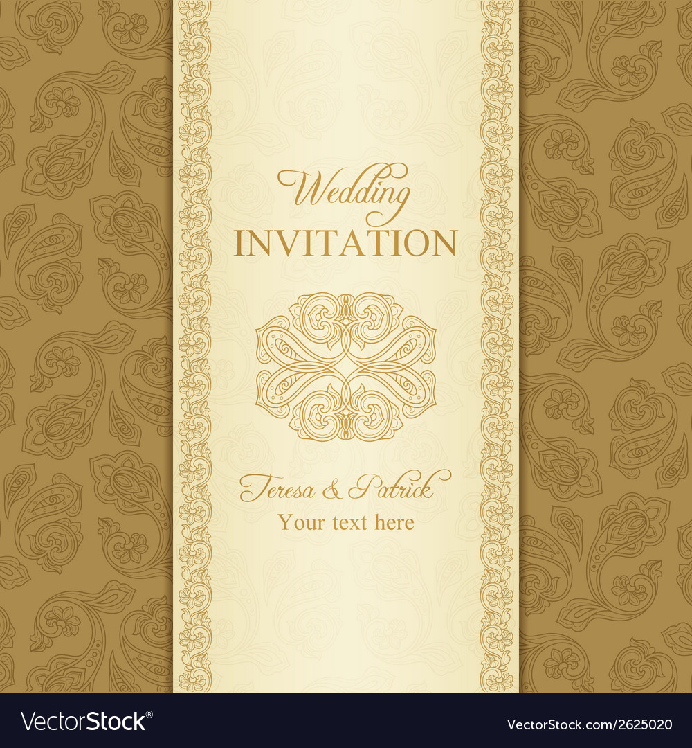 Turkish cucumber wedding invitation gold