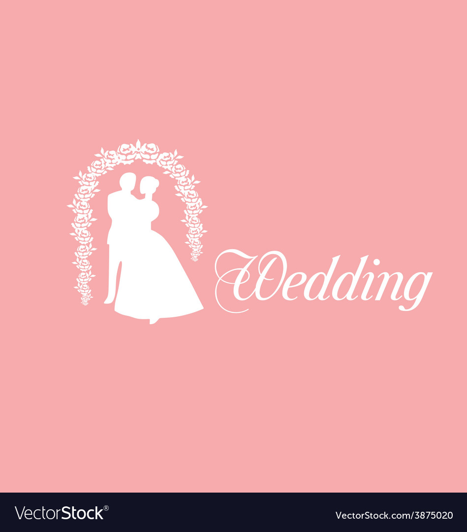 Wedding Logo Royalty Free Vector Image VectorStock