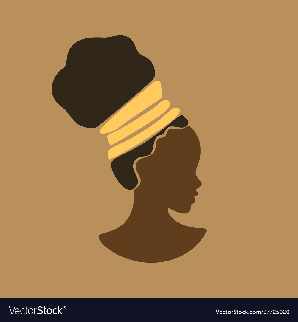 Young beauty african girl face in profile