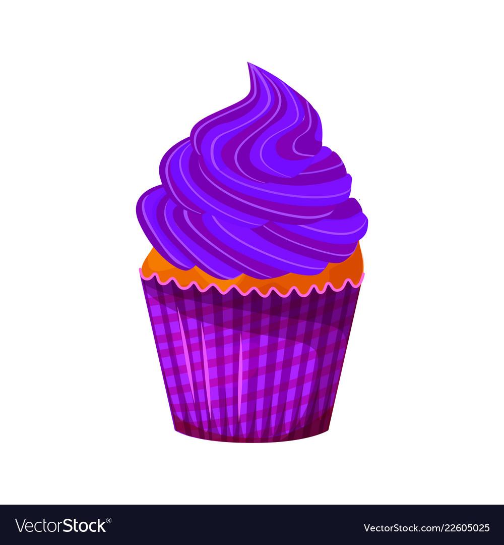 Cartoon style of sweet cupcake