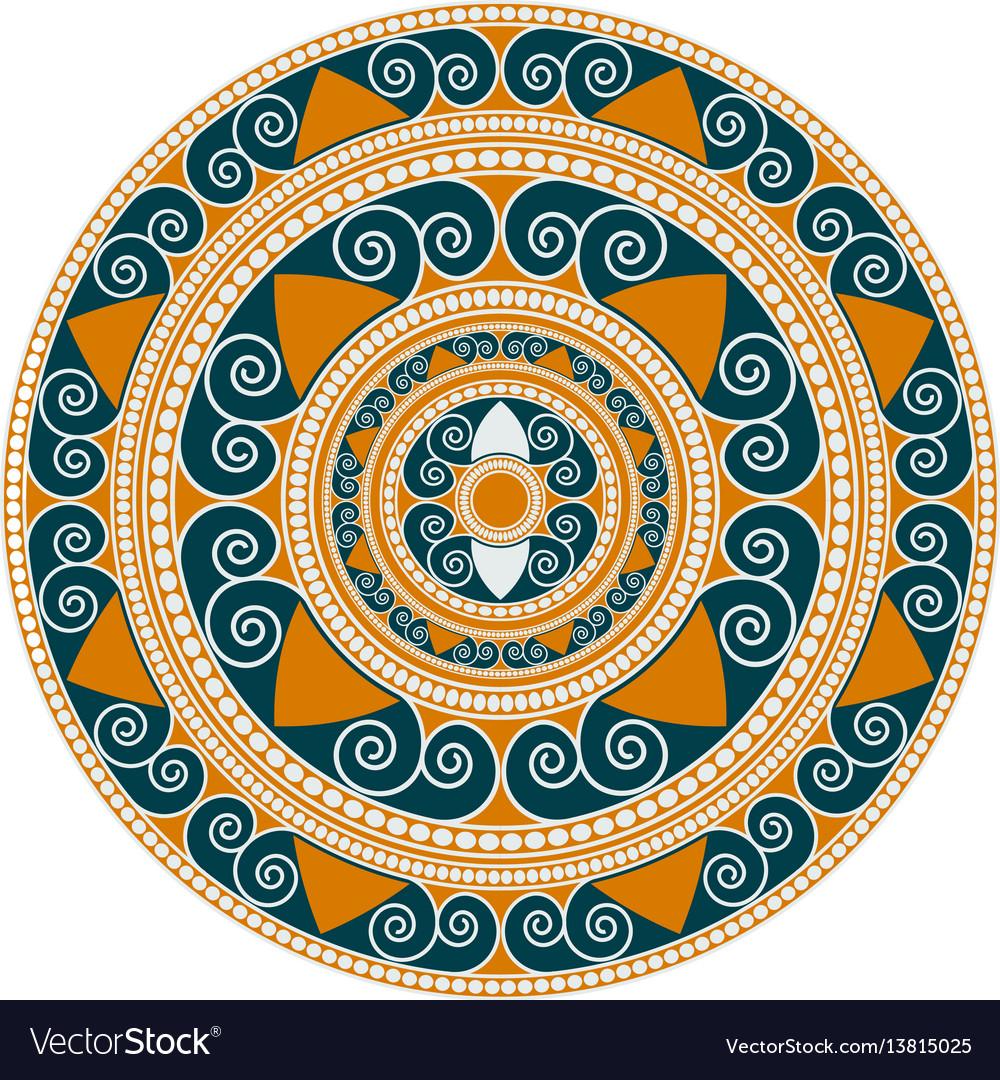 Mandala geometric round ornament