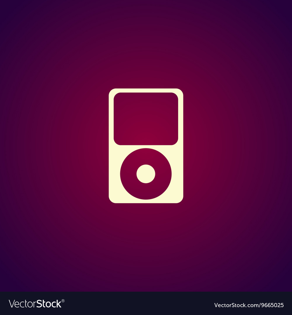 Portable media player icon Flat design style