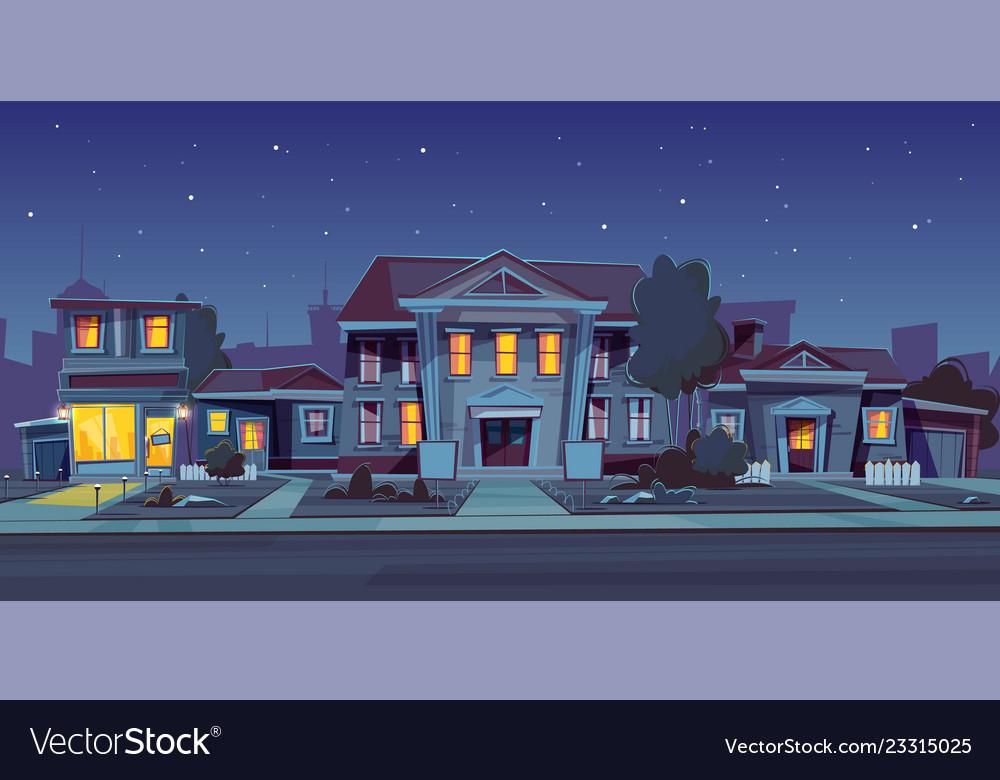 Rental house estate night background