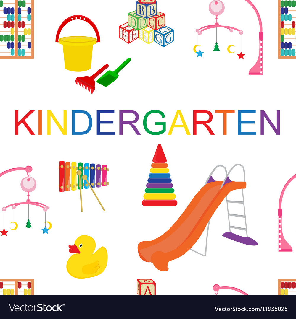 seamless pattern for kindergarten royalty free vector image