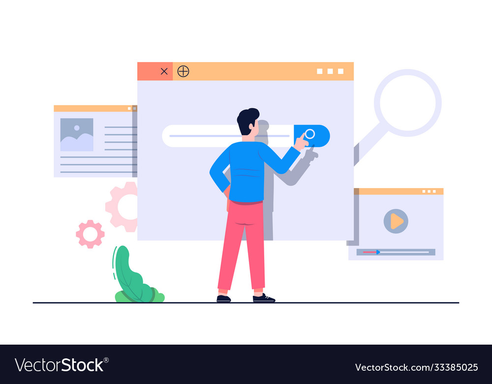Search engine concept flat