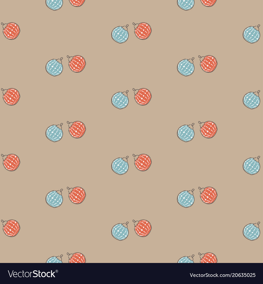 Winter seamless pattern with festive red and blue