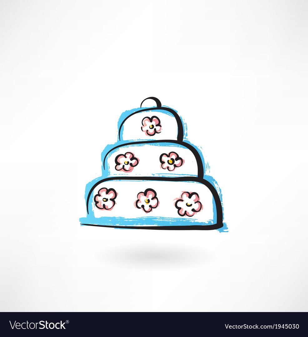 Big cake grunge icon