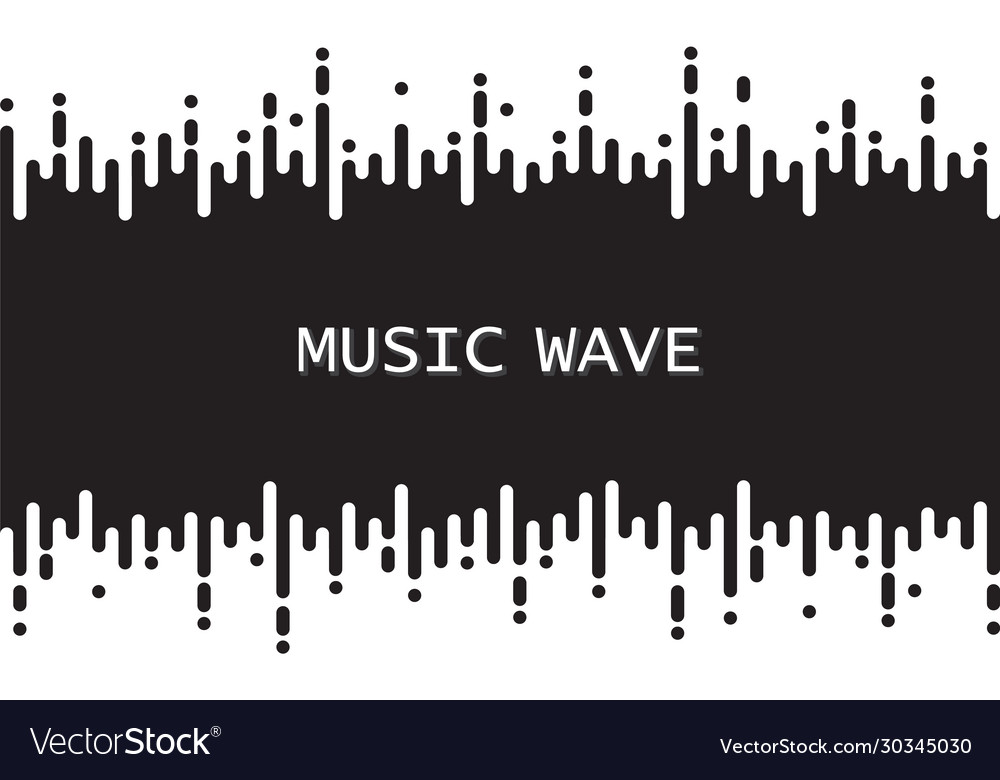 Black pulse music player on white audio