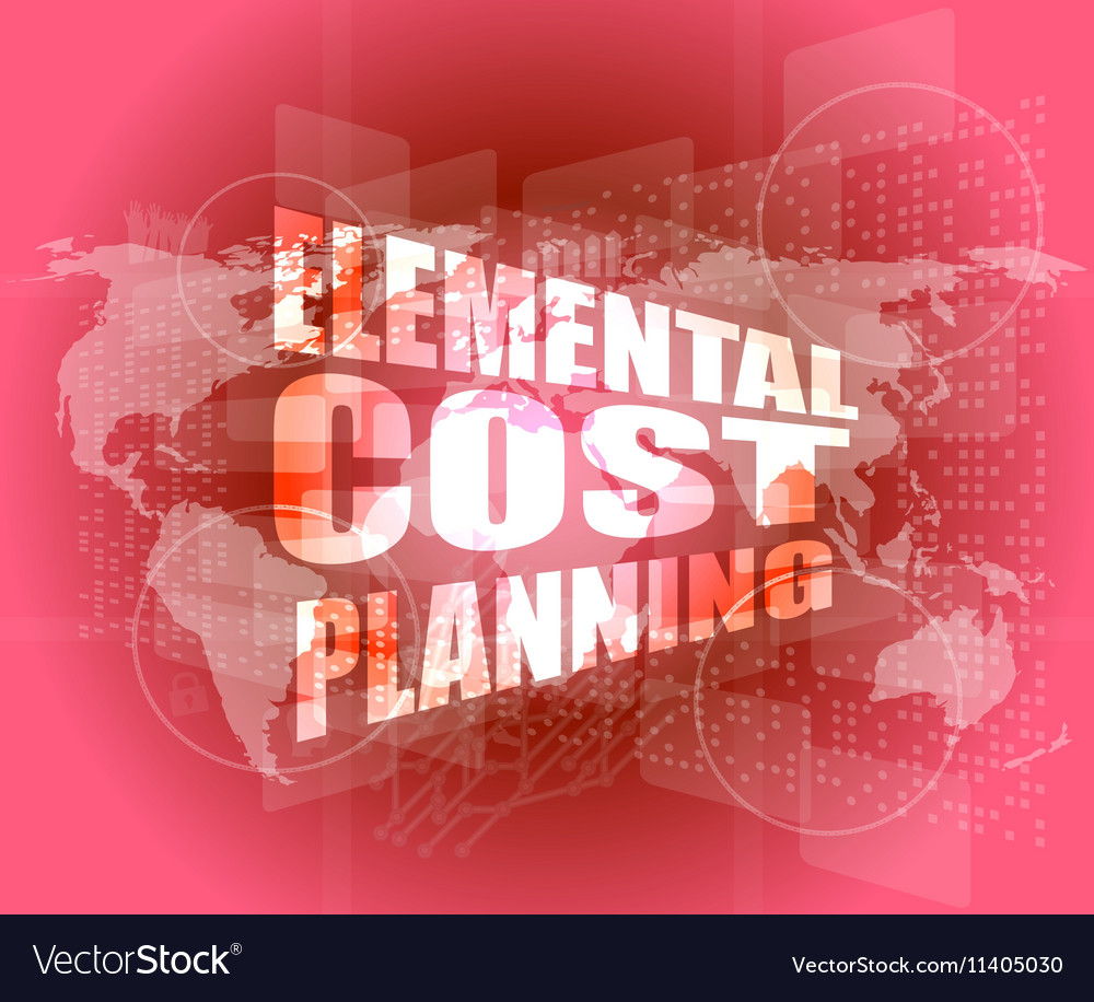 Elemental cost planning word on business digital