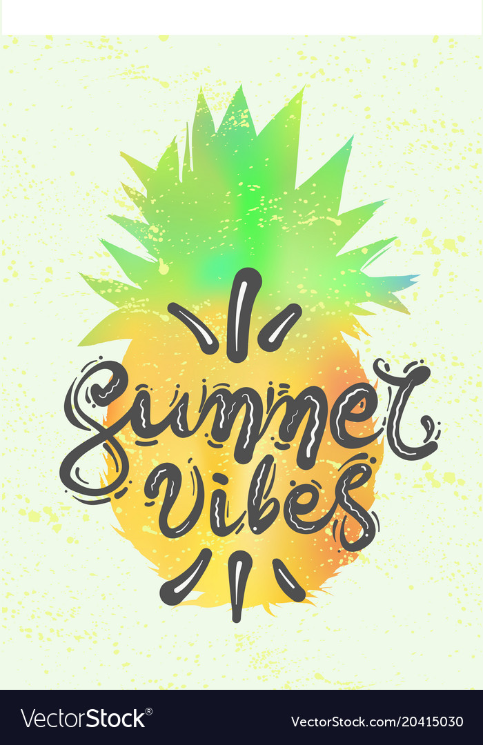 Lettering quote summer vibes calligraphy