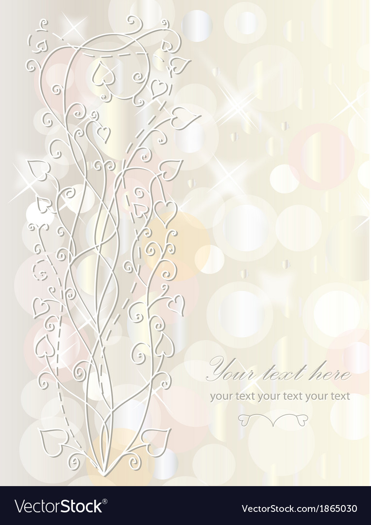 Retro floral background for card