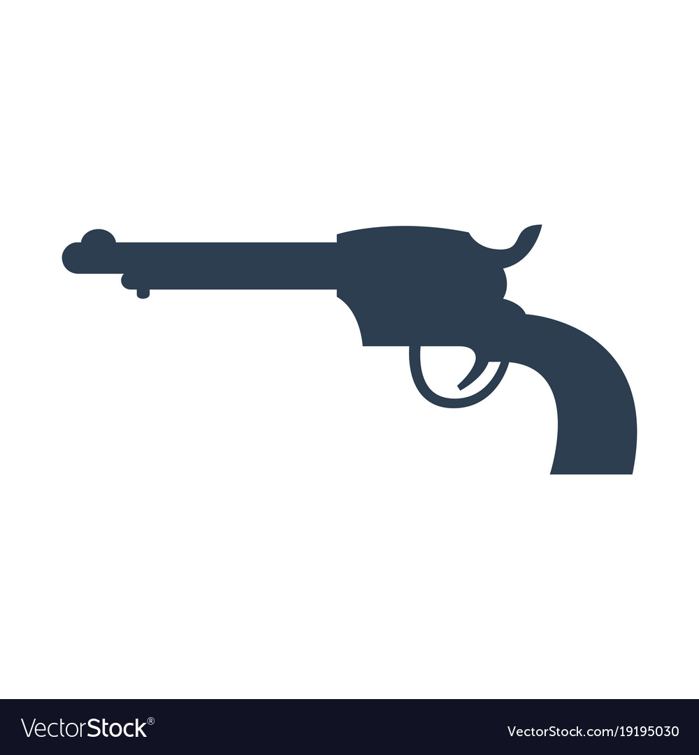 Revolver icon on white background