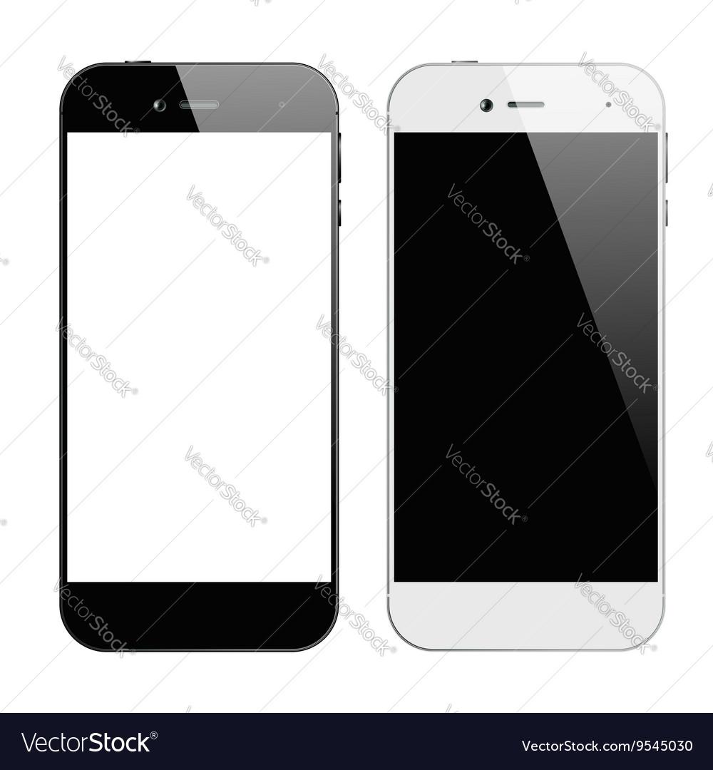 Smartphones black white vector image
