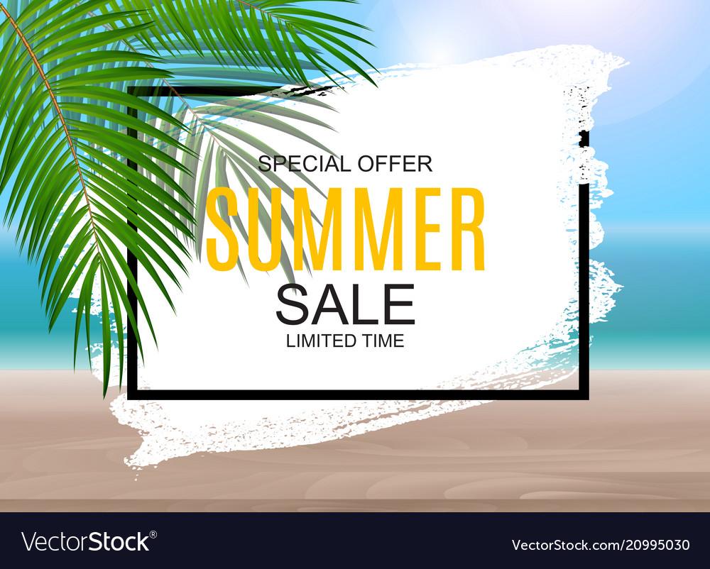 Summer sale concept poster background