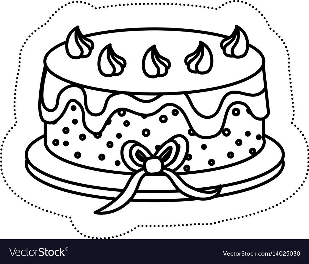 Sweet Cake Icon Royalty Free Vector Image Vectorstock