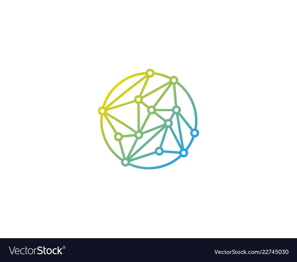 Tech globe logo icon design