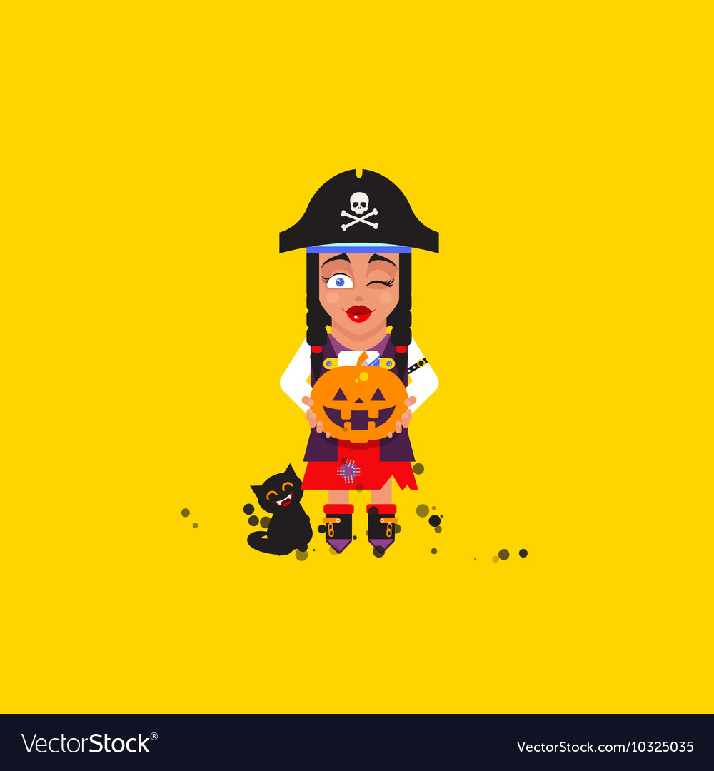 A pirate girl character for halloween