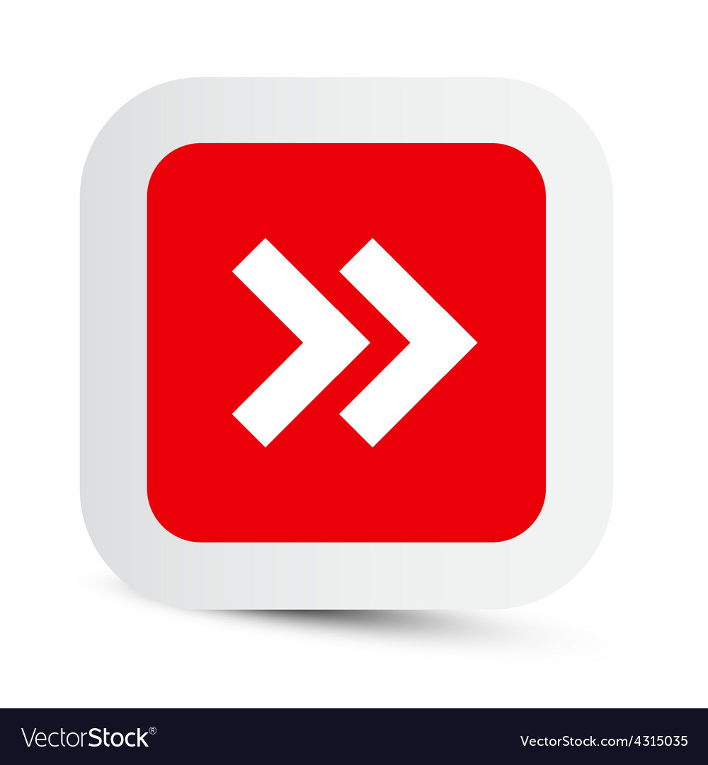 Double Arrow in Red Paper Rounded Corners Square
