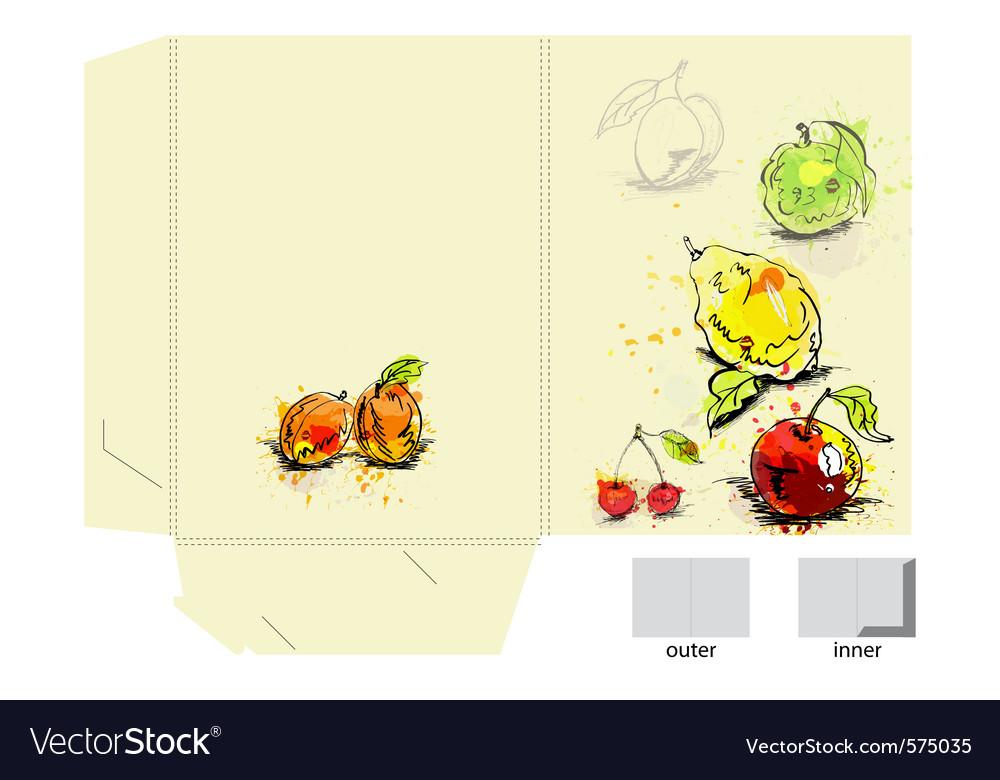 Folder template vector image