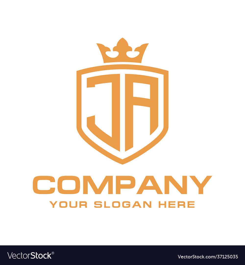 Initial ja luxury logo design