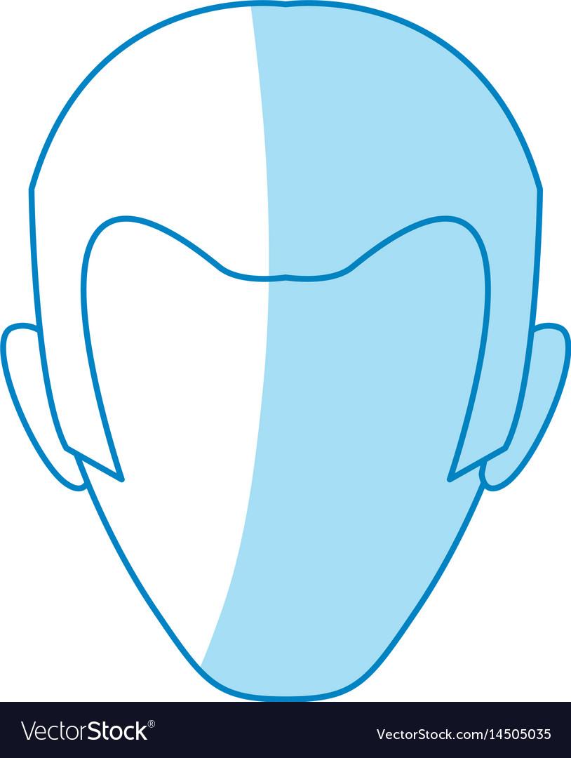 Male profile faceless